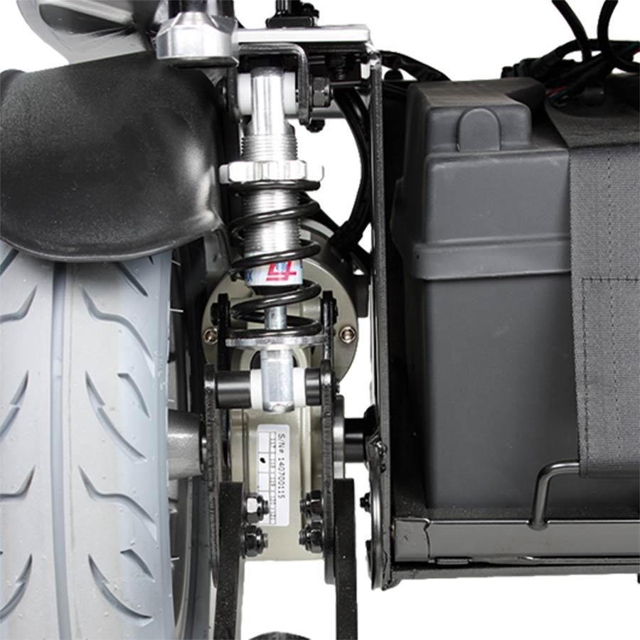 Die Federung an den Antriebsrädern des UHC Airide Go Compact sind einstellbar