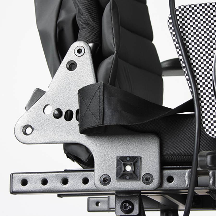 Die Sitztiefe des UHC Elektrorollstuhls Airide Go Compact ist einstellbar von 43 bis 50 cm