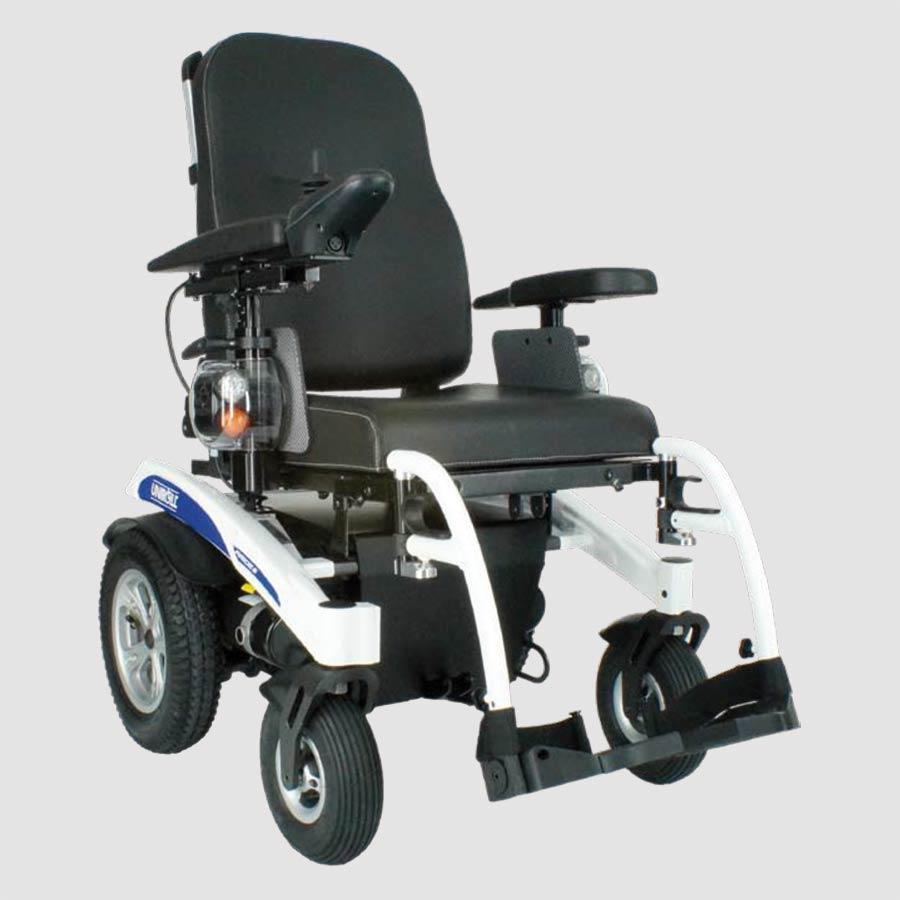 Der neue luftgefederte UHC Elektro-Rollstuhl Airide X-tend mit dem modularen Baukasten-System