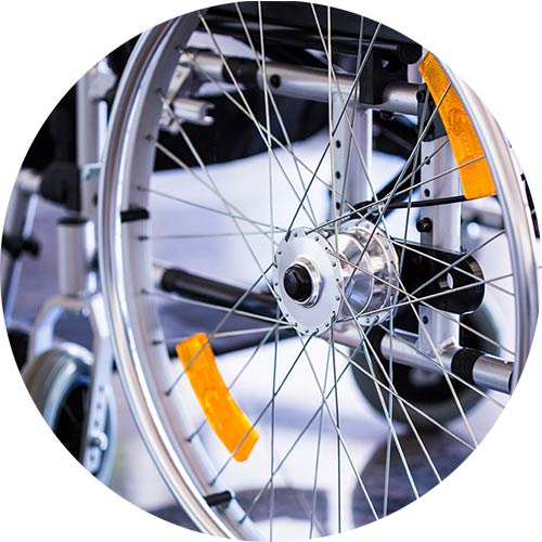 Reifen eines UHC Rollstuhls