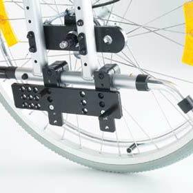 Universal-Halterung für viele Rollstuhl-Modelle der UHC Brems-und Schiebehilfe Click an Go CG33000