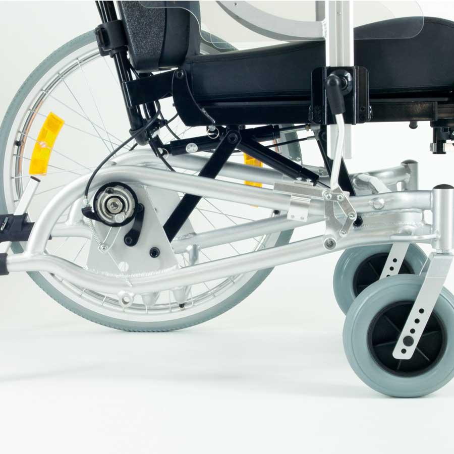 Das UHC Rollstuhlmodell 1.010 GEO seitliche Rahmenansicht