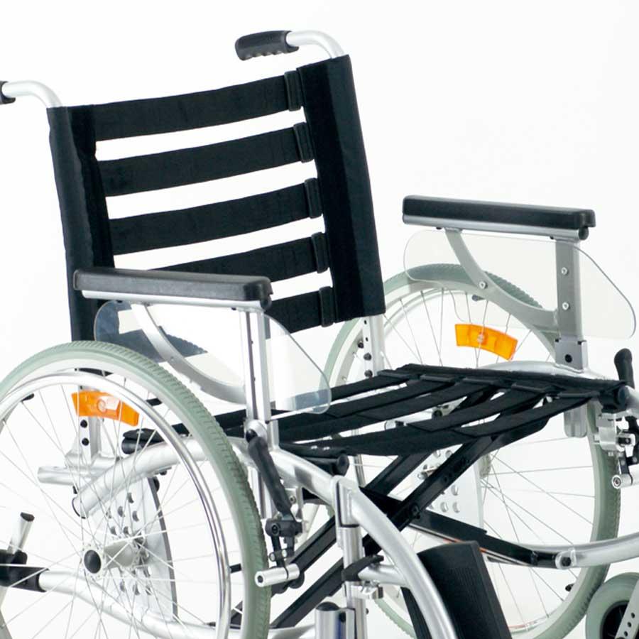 Das UHC Rollstuhlmodell 3.930 Phönix Sitz- und Rückengurte anpassbar