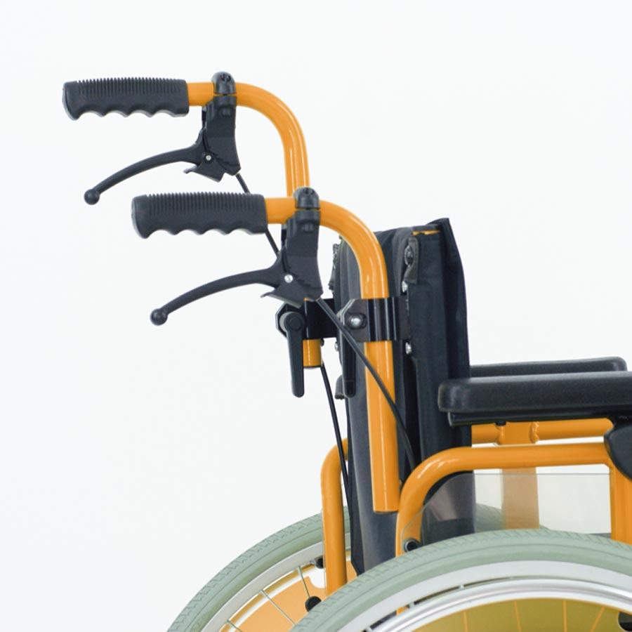Das UHC Rollstuhlmodell 2.130-34 Dino Höhenverstellbare Schiebegriffe Code 154