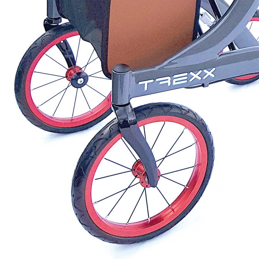 Gr0pe Speichenräder des Outdoor-Aluminium-Rollators T REXX