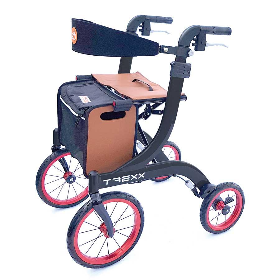Outdoor-Aluminium-Rollator T REXX schwarz