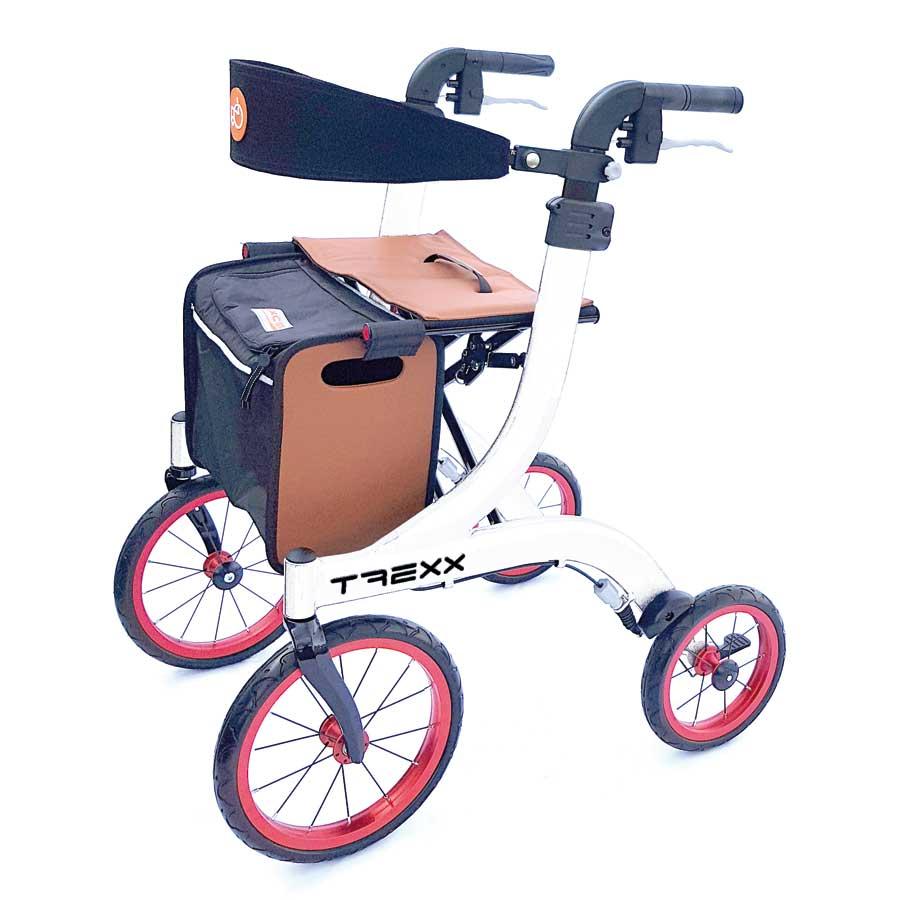 Outdoor-Aluminium-Rollator T REXX weiß