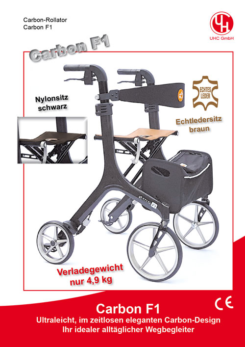 Carbon-Rollator Carbon F1