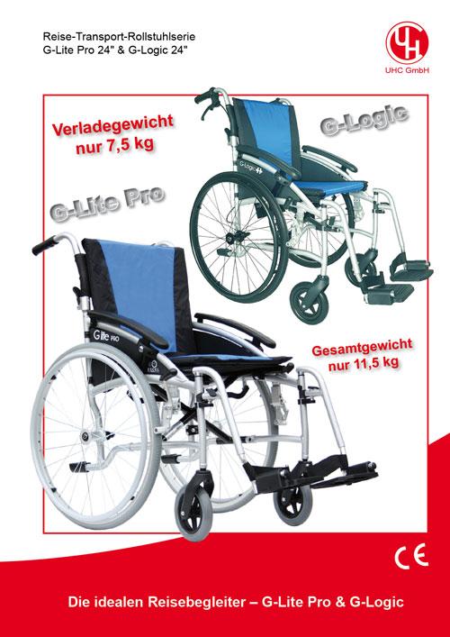 Reise-Rollstühlel Modelle G-lite Pro & G-Logic