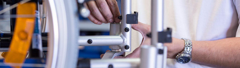 Qualitätskontrolle eines UHC Rollstuhls